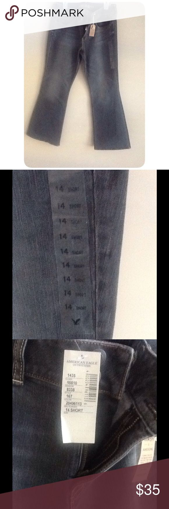 American Eagle Artist Jeans Size 14 Short These are American Eagle Artist Jeans. They are for Short females!! They are a size 14 Short!! They are New with Tags!! They would be Great for the Winter Weather!! American Eagle Outfitters Jeans Flare & Wide Leg