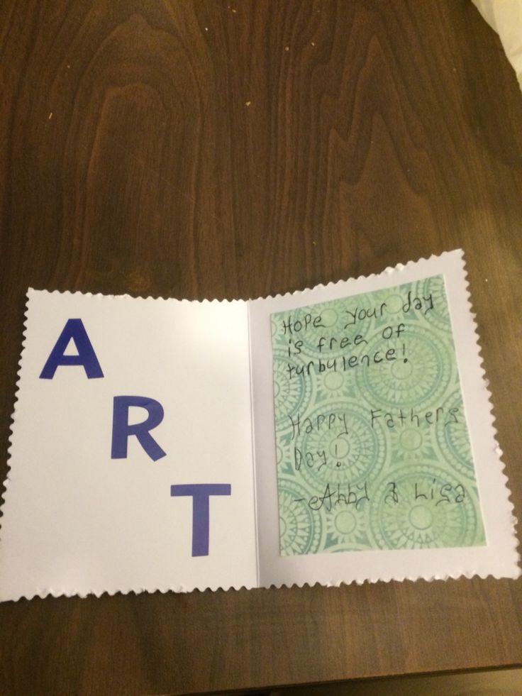 Inside arts card