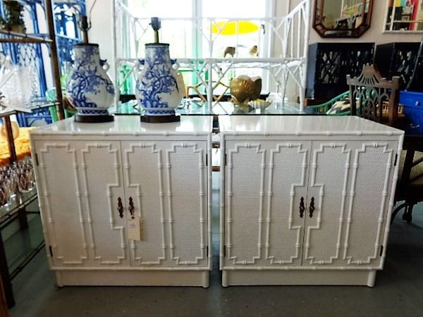 FAUX BAMBOO Cabinets