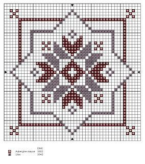 Needlebook cross-stitch - free