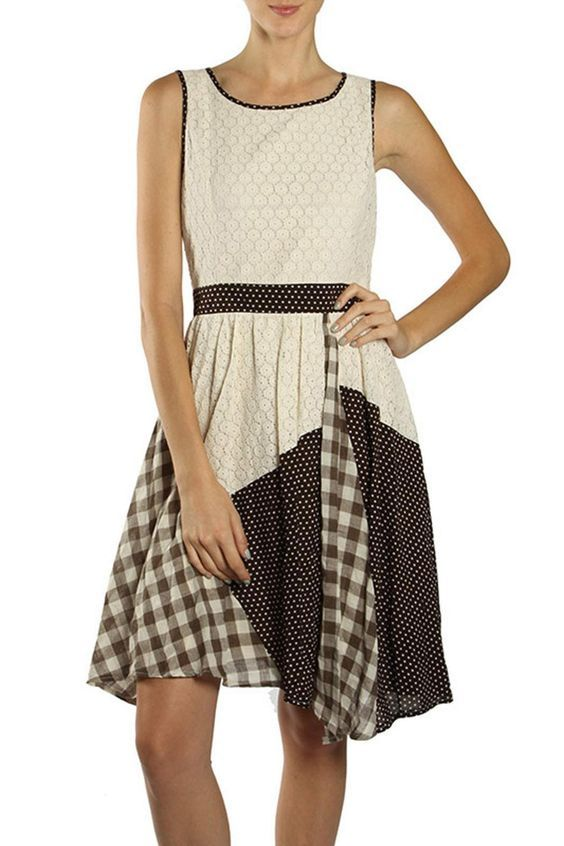 This adorable multi print dress is the perfect blend of style and simplicity. The intricate lace detail pairs perfectly with the fun prints! Hidden side zipper and bow detail on the back make this a great addition to your wardrobe! Multi Print Dress by Ryu. Clothing - Dresses - Casual Illinois