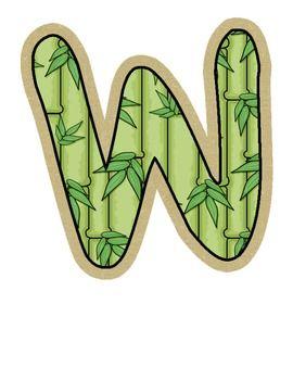 Wild About School! Jungle Bulletin Board Letters