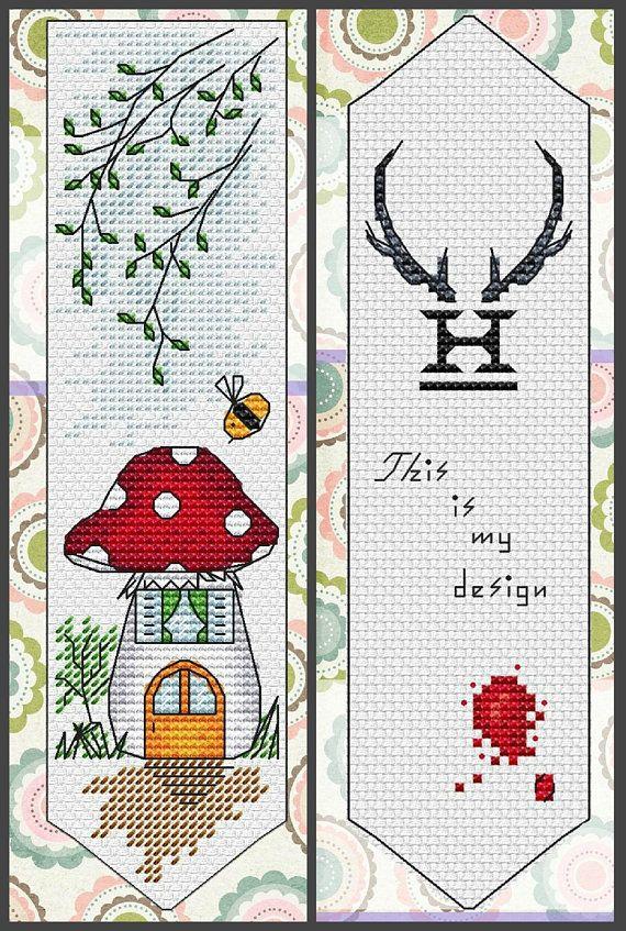 15 Bookmark Cross Stitch Pattern Pdf Instant Download Book Cross
