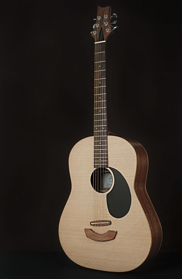 Doppler Acoustic Mid-Size Guitar with Wood Finish 1)Top ...