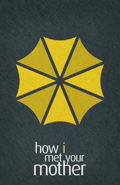 How I Met Your Mother (2005–2014) ~ Minimal TV Series Poster by Begum Ozdemir #amusementphile