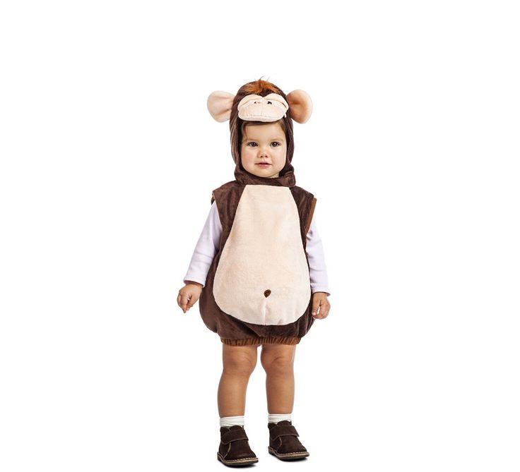 Disfraz de Mono Peluche para bebé. Incluye Mono con Cabeza y Cola. No incluye Calzado ni calcetines. ¡Compra en disfrazzes y recuerda que tienes 30 días para devoluciones!