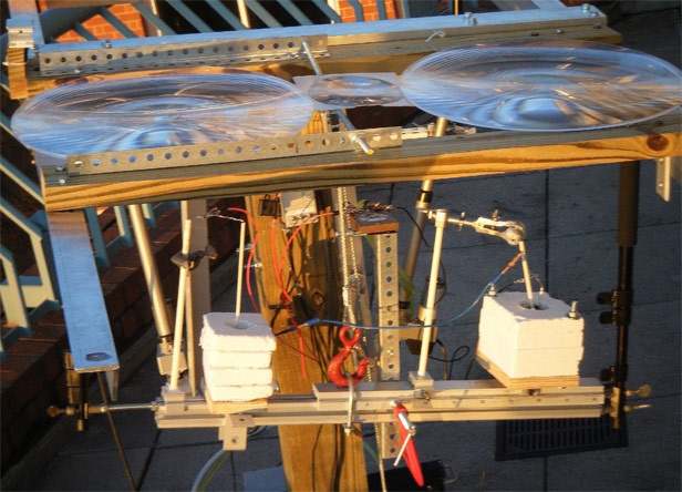 George Washington University researchers developed a prototype for making cement using concentrated solar energy. Their device uses lower temperatures than conventional methods and emits oxygen and either carbon or carbon monoxide as byproducts, rather than carbon dioxide.