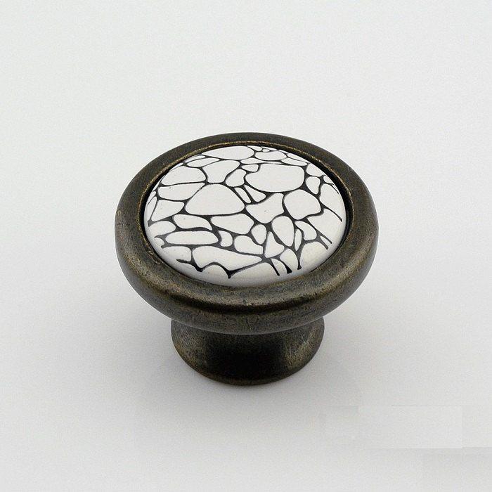 Dresser Knobs Drawer Pulls Knobs Handles Ceramic Cabinet Knobs Black White  Antique Kitchen Cupboard Handle Knob