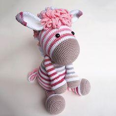 Zebra amigurumi free pattern