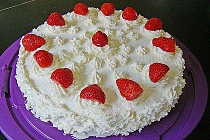Schnelle Erdbeer - Sahne - Torte (Rezept mit Bild)   Chefkoch.de