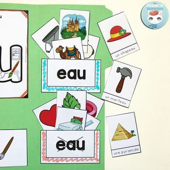 Le son EAU: French Phonics Lapbook. Great way to practice identifying the sound EAU in words such as marteau, cadeau, chapeau, château, and more! Interactive foldable activities.