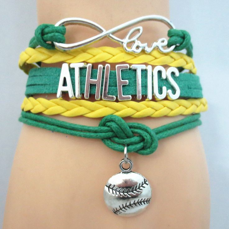 Infinity Love Oakland Athletics Baseball - Show off your teams colors! Cutest Love Oakland Athletics Bracelet on the Planet! Don't miss our Special Sales Event. Many teams available. www.DilyDalee.co