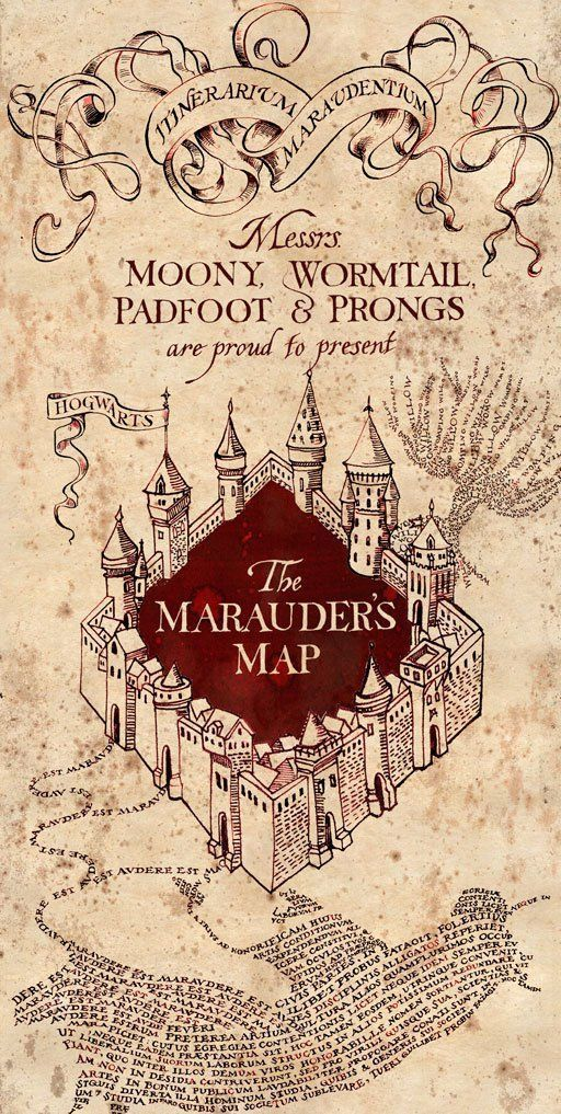 The marauders map, mapa do maroto, Harry Potter