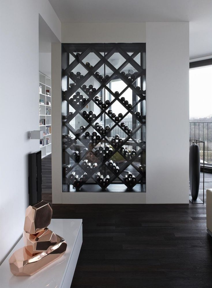 Wine Rack Wall..basement wall divider for my office