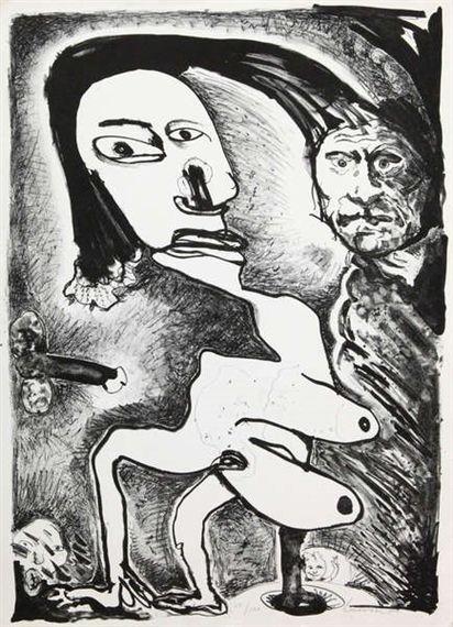 Lucebert , Litho, 70 X 50 cm