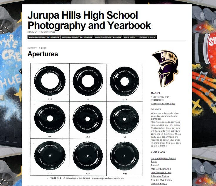 Very cool class blog at Jurupa Hills High School Photography and Yearbook blog