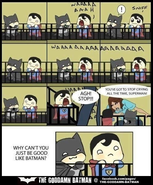 Superman And Batman Cute