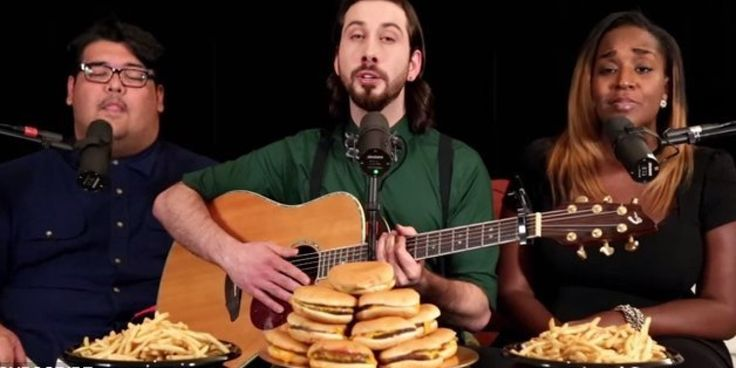 """Singer Avi Kaplan of famed a cappella group Pentatonix really is """"All About That Bass"""" in his cover of Meghan Trainor's hit single.   No treble.   Watch Kaplan perform the song in his extremely deep voice, accompanied by singers Mario J..."""