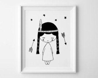 baby girl nursery print kids room decor arrows by MiniLearners