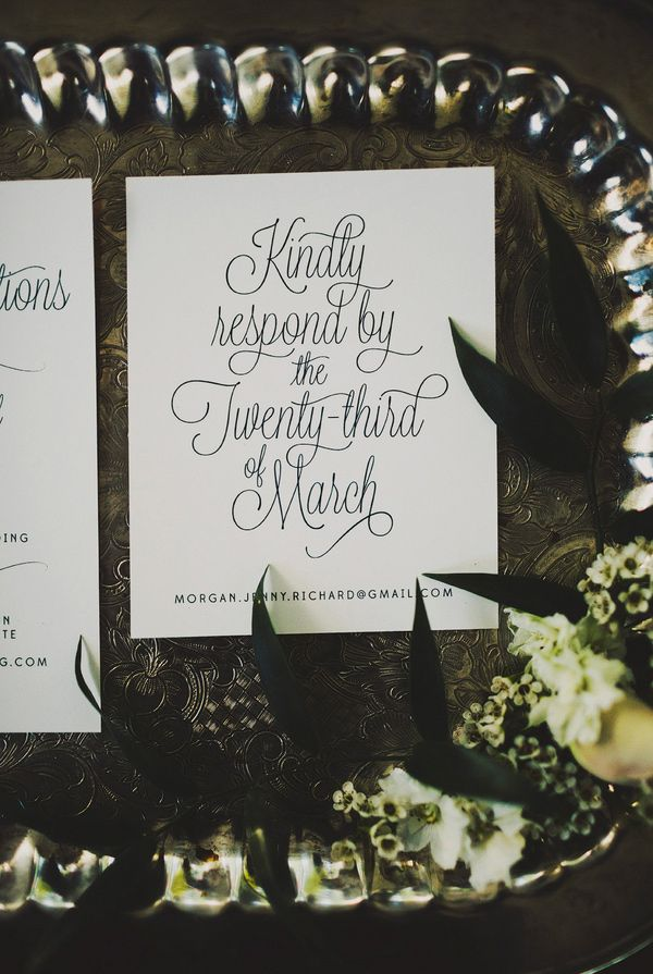 light scrolly typography // photo by Ariel Renae, design by Cassie Castellaw // View more: http://ruffledblog.com/multicultural-nashville-wedding/