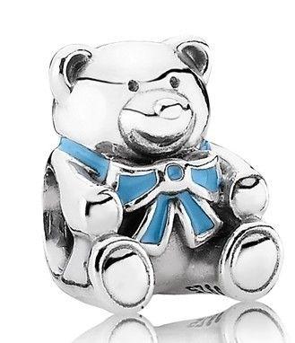 Pandora Black Friday 2015 silver baby boy teddy bear charm Clearance Deals PDR780363CZ