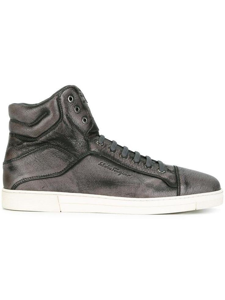 exclusieve Salvatore Ferragamo 'Stephen' High-Top-Sneakers (grijs)