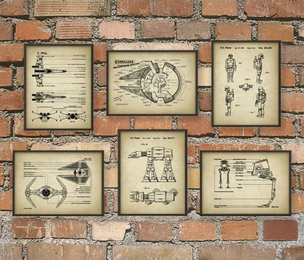 These Awesome 'Star Wars' Blueprint Posters Come In A Set Of Six