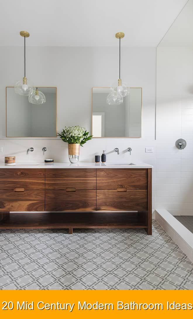 20 Mid Century Modern Bathroom Ideas Bathroomideas Dekor Banyo Modern