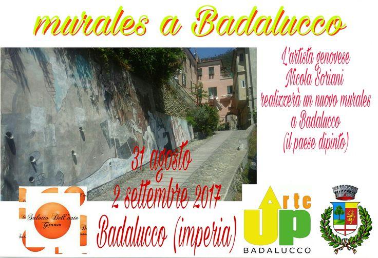 Badalucco, imperia, Il paese dipinto Realizzazione di un nuovo murales.