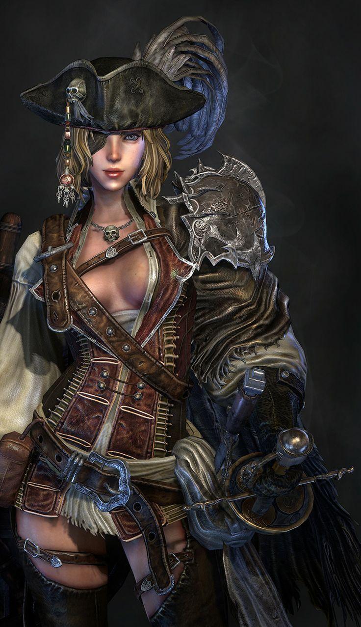Fantasy pirate women