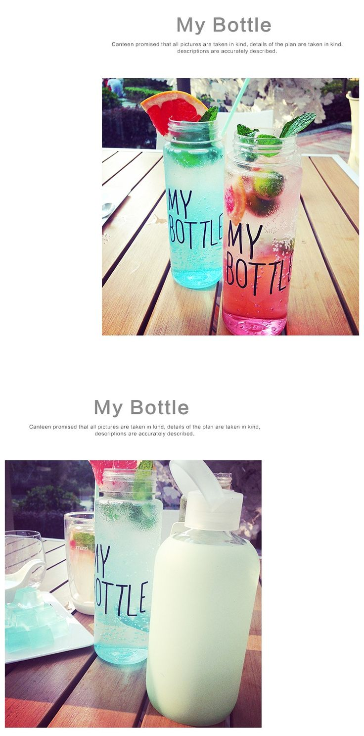 Aliexpress.com : Buy My bottle 500 ml Korea Style Clear Sport Bicycle Fruit Juice Water bottle space cup from Reliable cup wing suppliers on Ocean Simplicity Home Decor | Alibaba Group