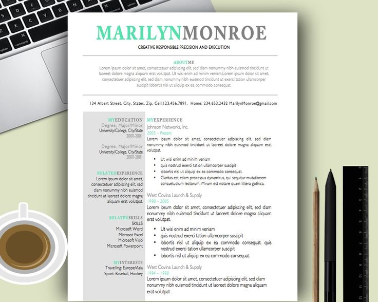 28 best Resumes images on Pinterest Teacher resumes, A - pages resume templates mac