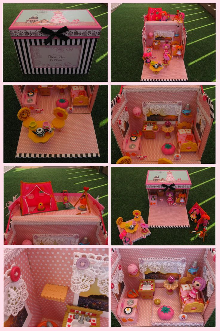 Lalaloopsy house by *Yuki87 on deviantART - how fun would this be to make and such an awesome idea for making a house for the minis that we could pack up and take with us!!
