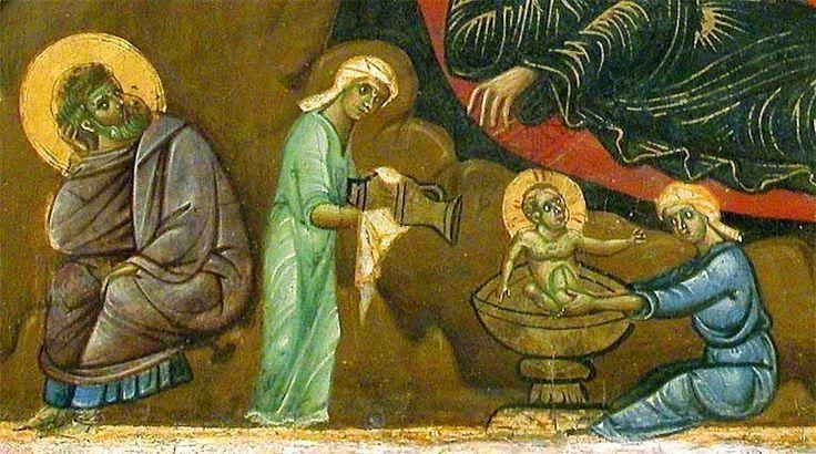 Guido da Siena - Natività dal Dossale di Badia Ardenga, dettaglio - circa 1275-1280 - oro e tempera su tavola - Museo del Louvre, Paris