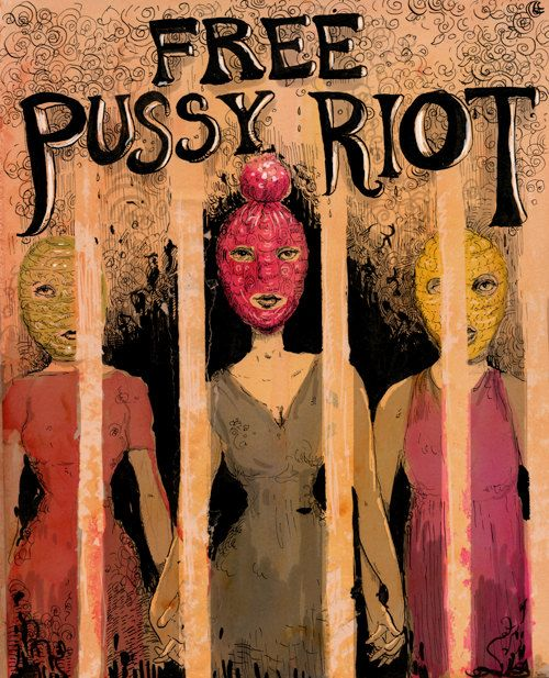 Free Pussy Riot poster by mollycrabapple on Etsy, $100.00