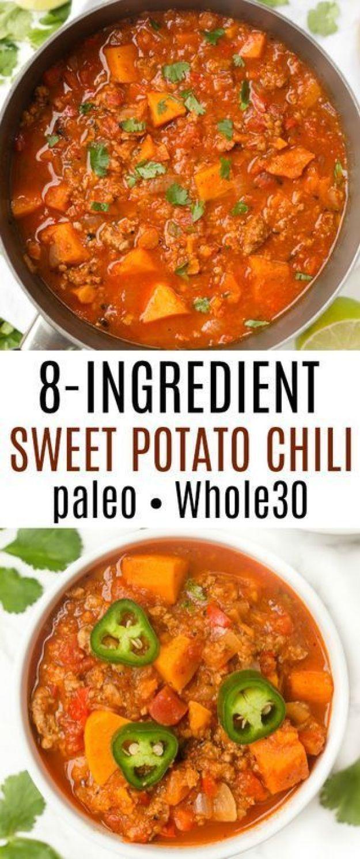 8 Ingredient Paleo Sweet Potato Chili Healthy Liv Sweet Potato Chili Paleo Sweet Potato Turkey Sweet Potato Chili