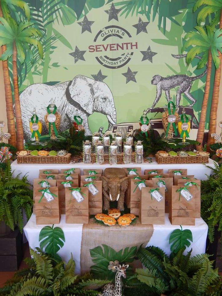 1016 Best Birthday Theme Jungle Safari Images On