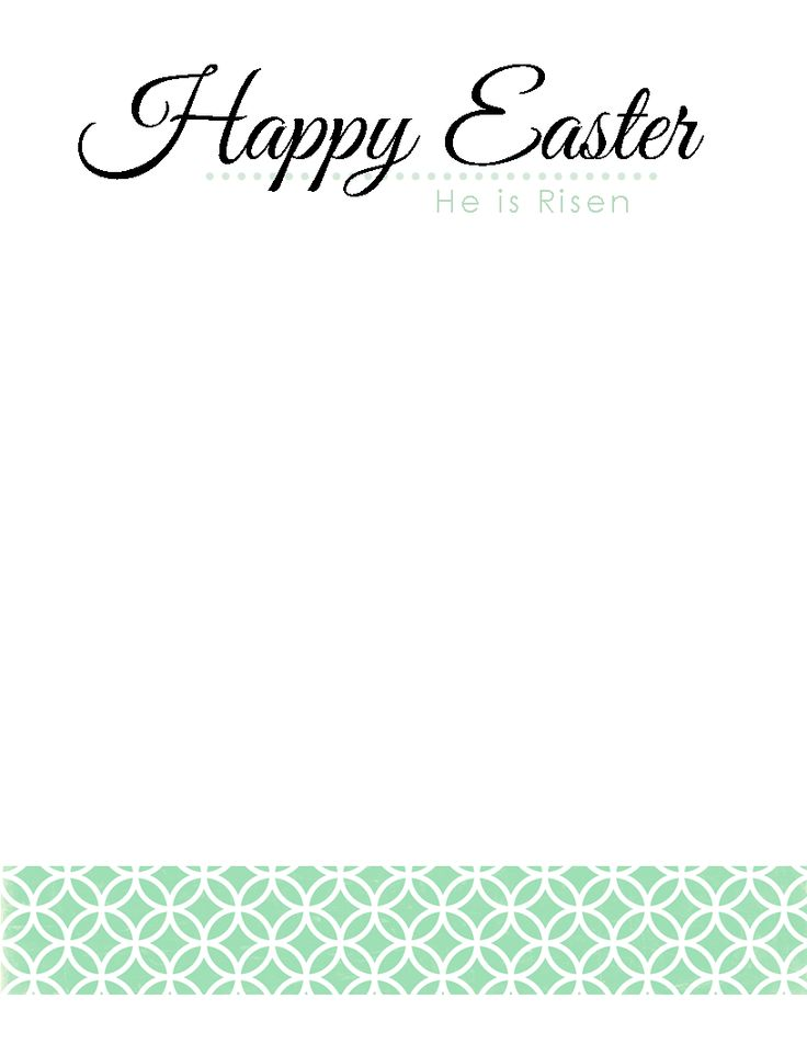 Free printable Easter Stationary.  Happy Easter Stationary in Three Designs
