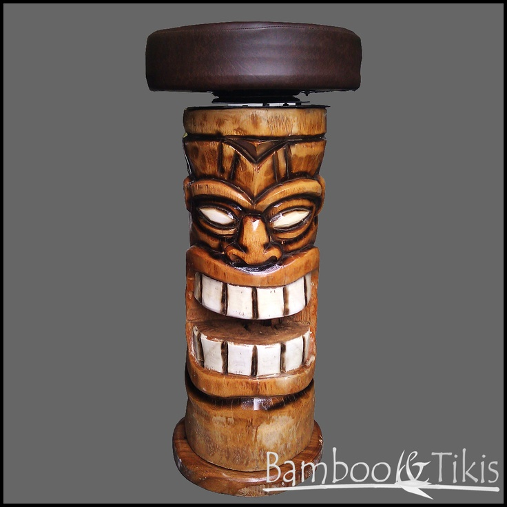 Another great Tiki bar stool  All things TIKI  Tiki bar