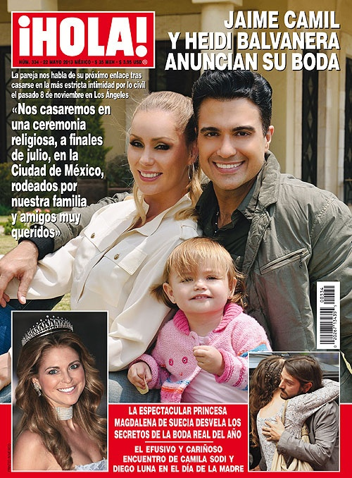 Esta semana en ¡HOLA!: Jaime Camil y Heidi Balvanera anuncian su boda