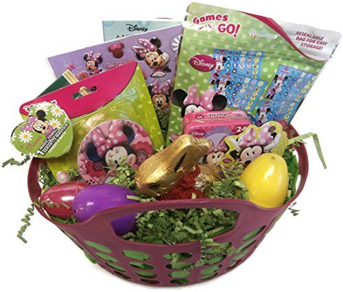 99 best images about easter gift on pinterest easter gift minnie mouse easter gift basket tote with chocolate bunny continue to the product negle Image collections