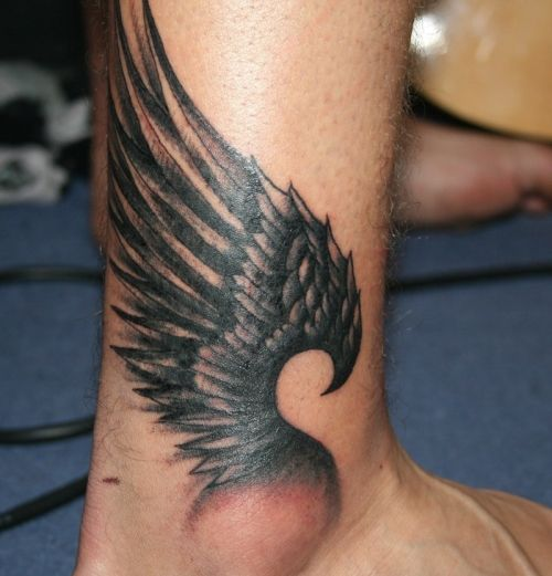 Ankle Wing Tattoo (Hermes in the house)