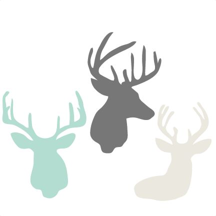 Daily Freebie 11-10-14: Miss Kate Cuttables--Deer Head Set SVG cutting files for scrapbooking cute cut files christmas svg cut files free svgs