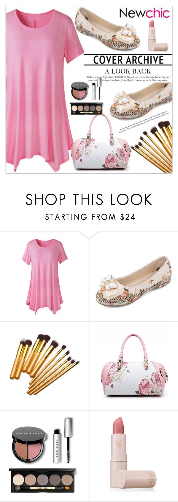 """""""Newchic"""" by adelisa56 ❤ liked on Polyvore featuring Bobbi Brown Cosmetics and Lipstick Queen"""
