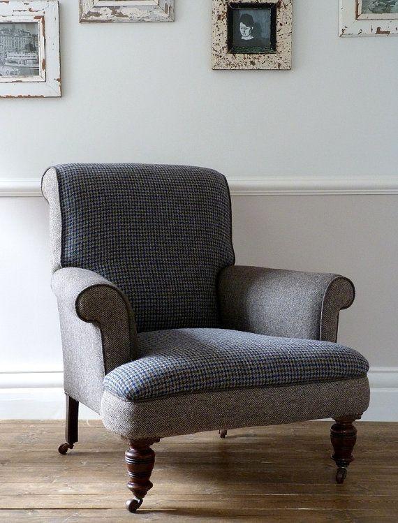 1920s Harris Tweed Antique Club Chair / Armchair by OrmstonSaintUK, £1445.00
