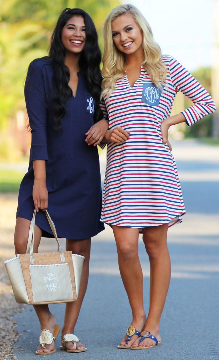 Dress to impress in these adorable new Monogrammed Dresses!!