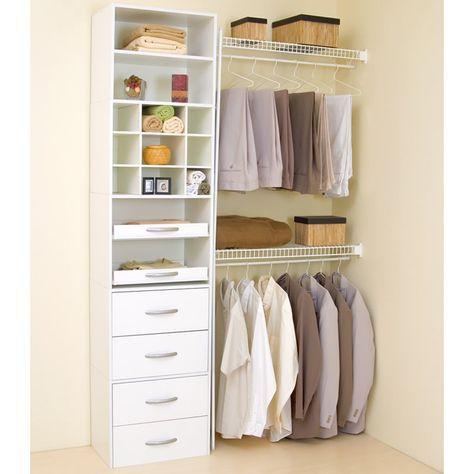 As 20 melhores ideias de closet barato no pinterest for Closet blanco pequeno
