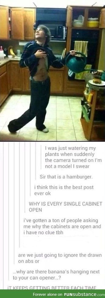 "My glasses fogged up from the tears that I cried laughing at this! ""sir that is a hamburger"" was almost the end of me."