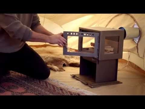 Official CanvasCamp 'Setting up the Orland Tent Stove in a Sibley Bell tent' - YouTube