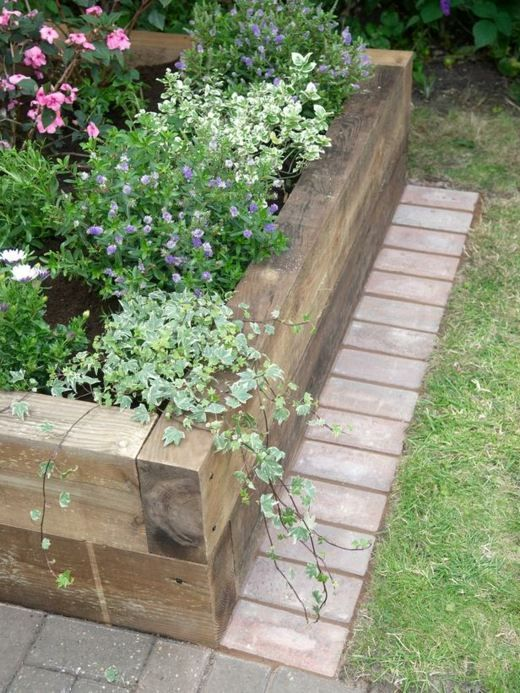31 best bordures jardin images on Pinterest | Gardens, Wood and ...